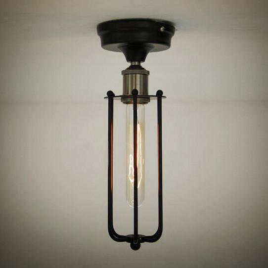 Pencil Cage Industrial Retro Vintage Ceiling Light