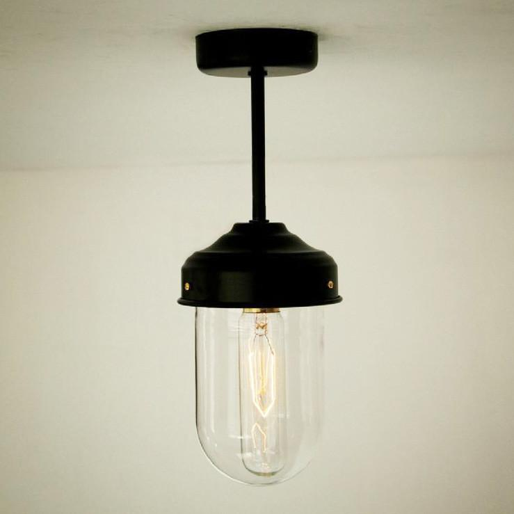 Glass Dome Retro Vintage Style Ceiling Light.