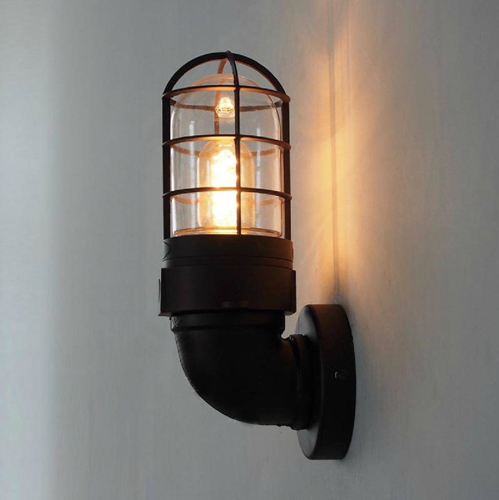 Classic Bunker Industrial Wall Light Sconce