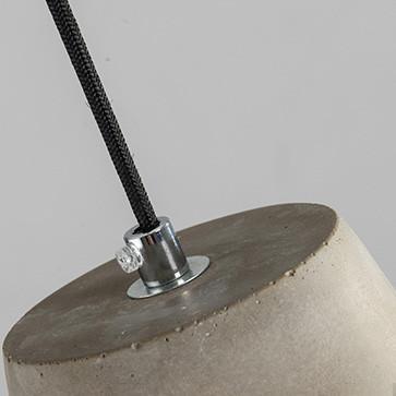 Long Pencil Concrete Cement Steel Cage Pendant Light