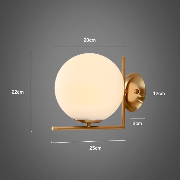 Trendl Frosted Dome Brushed Brass L wall light / ceiling light