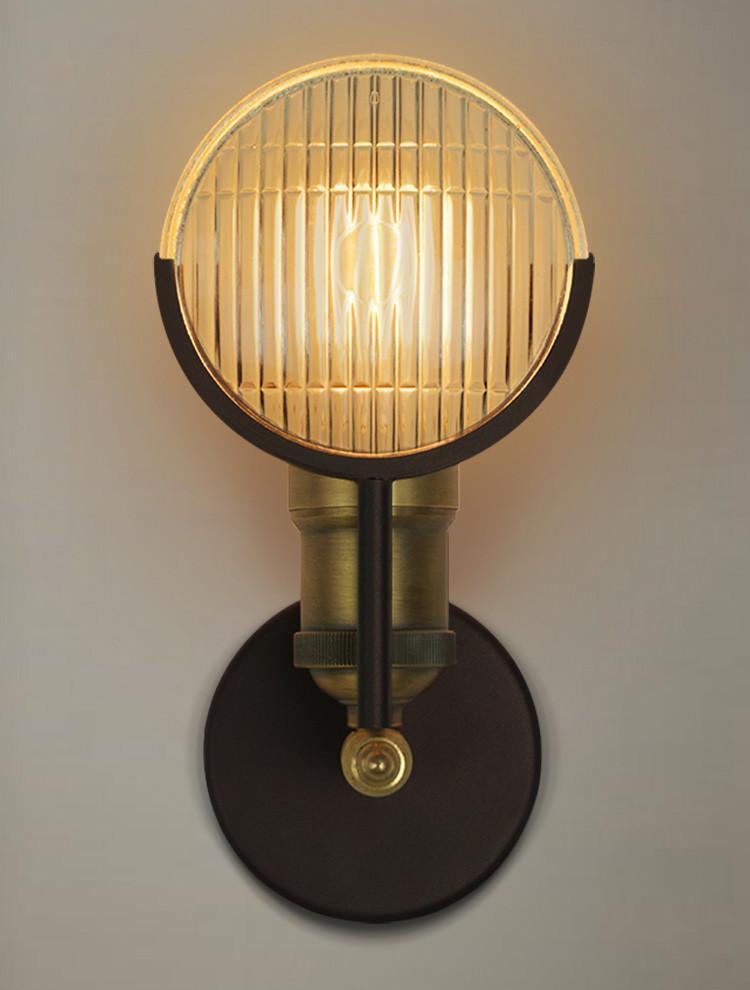 Huberman fresnal lens wall light sconce