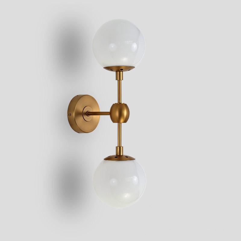 Ritz duo wall light sconce - in frosted glass