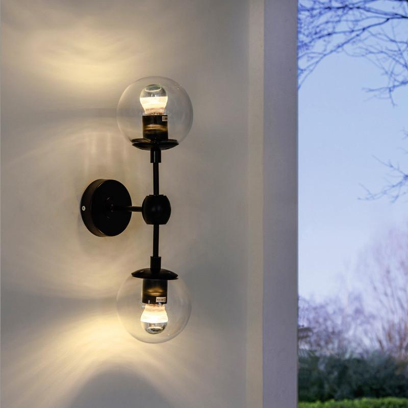 Ritz duo wall light sconce - in clear glass