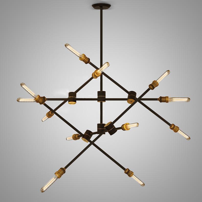Circa pendant light - 6 lines (12 heads)
