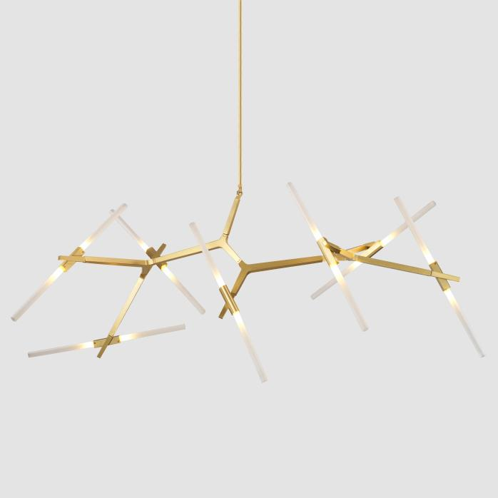 Ténéré Tree Contemporary Designer Ceiling Pendant Light - 14 heads Horizontal