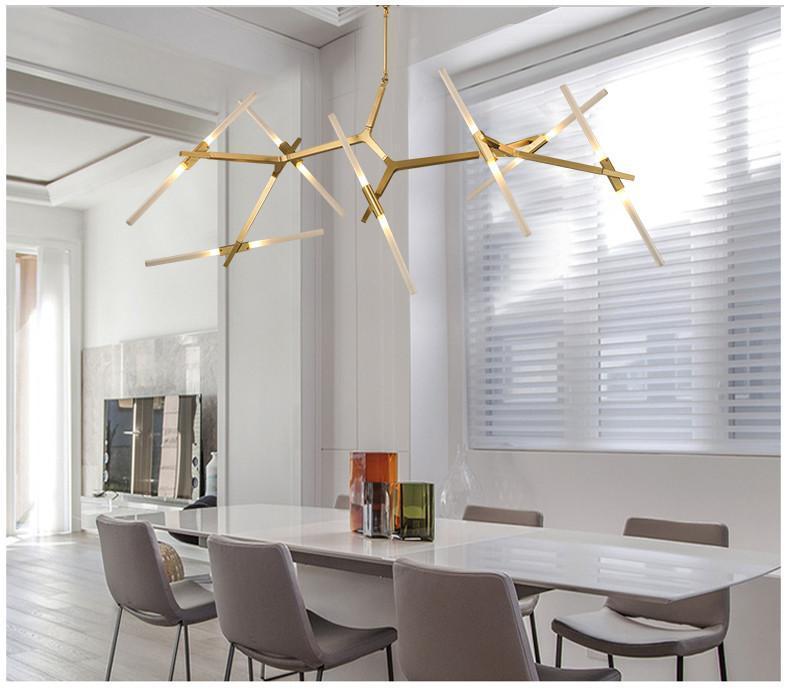 Ténéré Tree Contemporary Designer Ceiling Pendant Light - 14 heads Horizontal