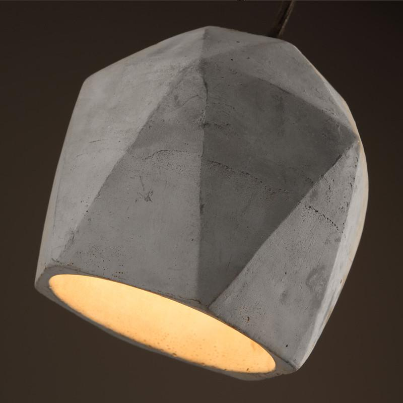 Concrete Odense Gem Pendant Light
