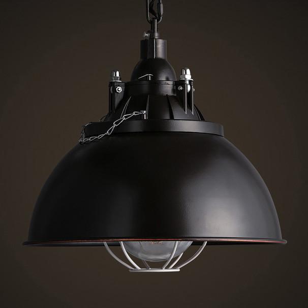 Helmut Industrial Shade Pendant Light (long)