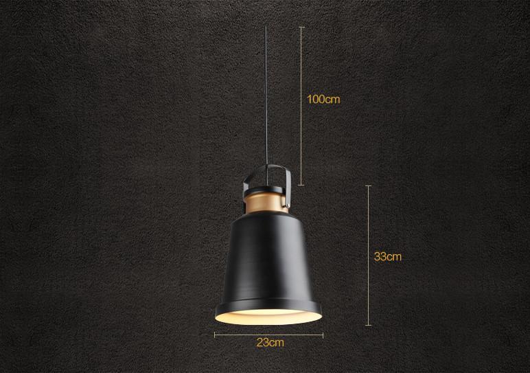 Newman Black Dome Industrial Loft Pendant Light