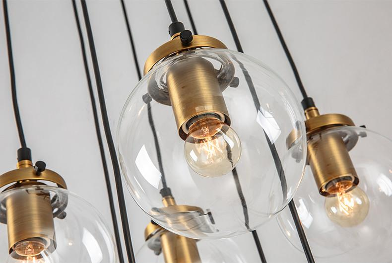 Willow Ritz 8 head cable chandelier