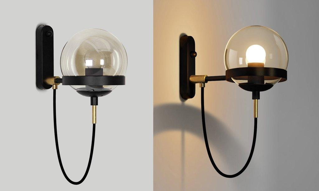 Dexter glass orb wall light