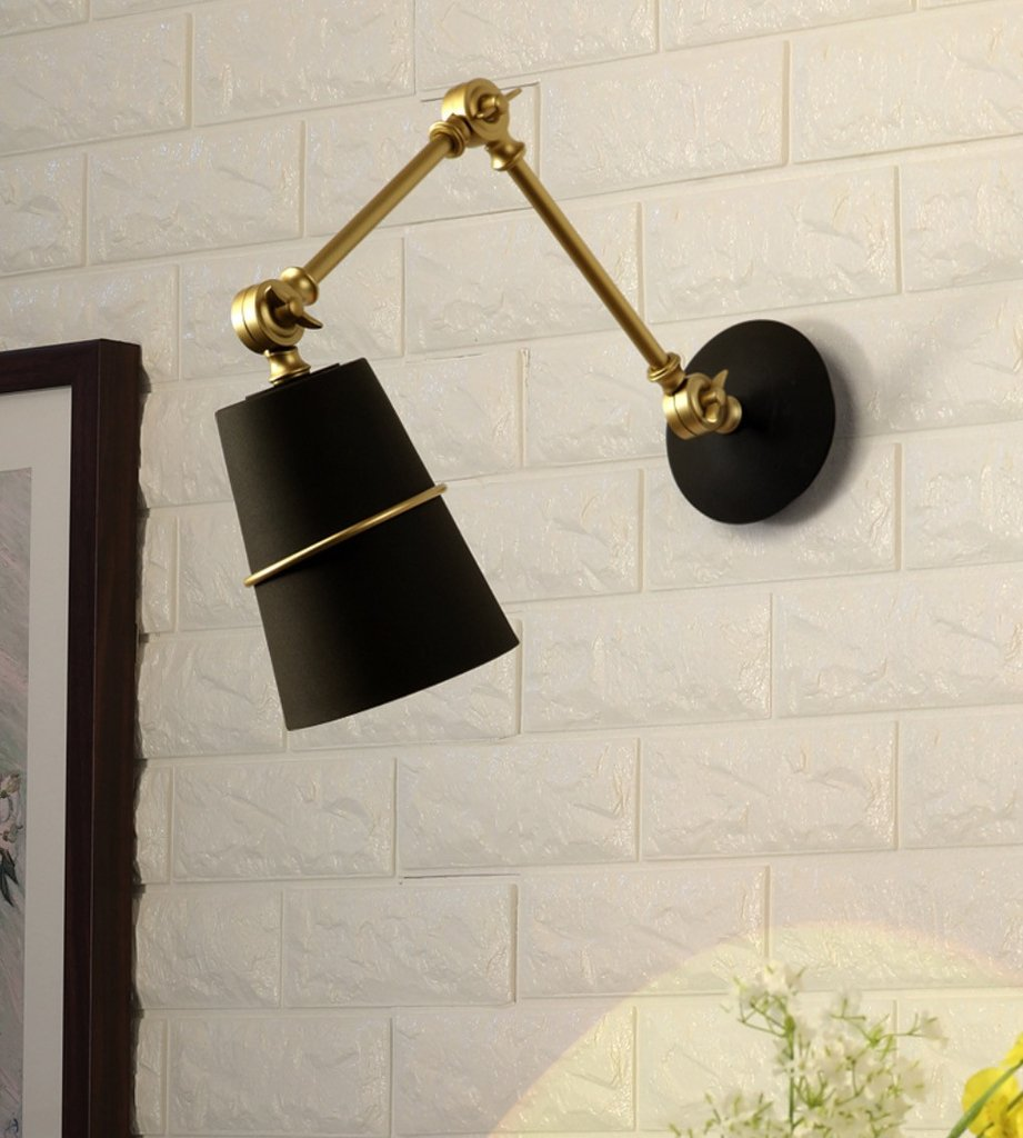 Sketch ringed wall light sconce - black and bronze