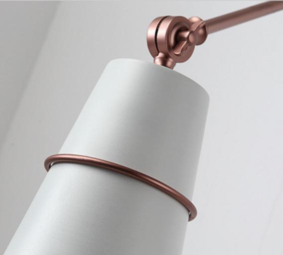 Sketch ringed wall light sconce - white and rose gold
