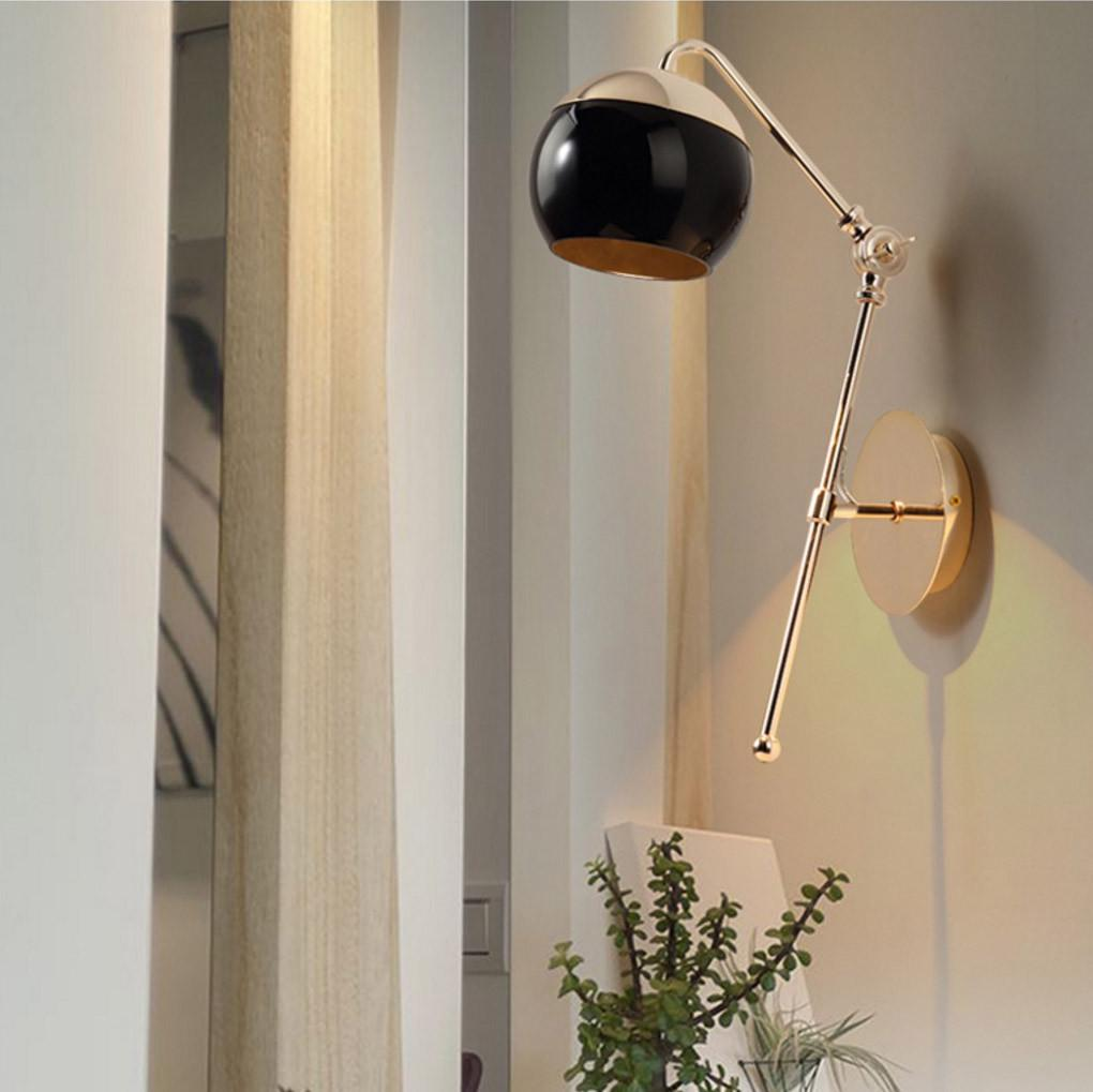 Met wall light sconce in two tone