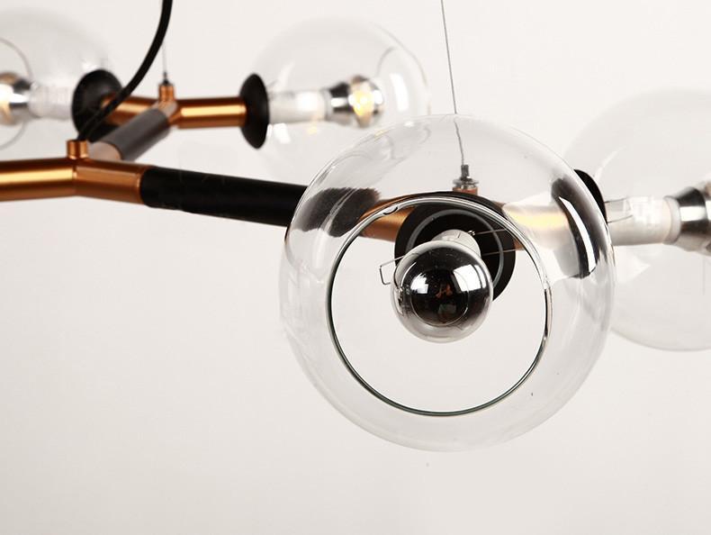 Schiera 6 head branching chandelier