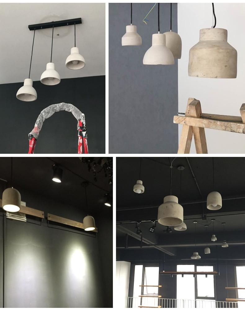 Concrete Oslo Minimalist Pendant Light