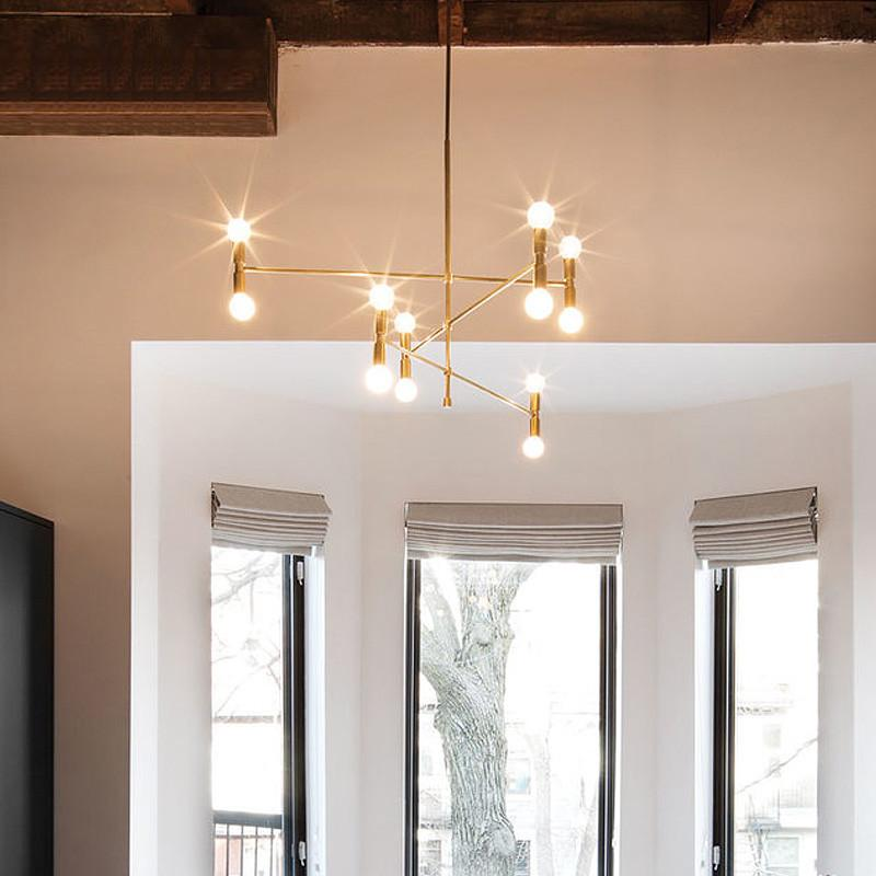 ARQ branch chandelier - 3 lines (12 heads)