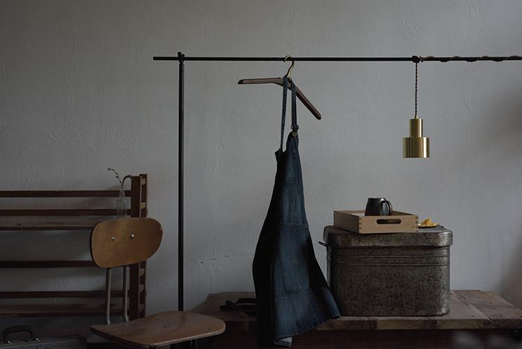 Smith's brushed brass pendant Light