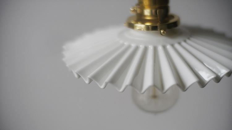 Ceramic fluted Pendant Light