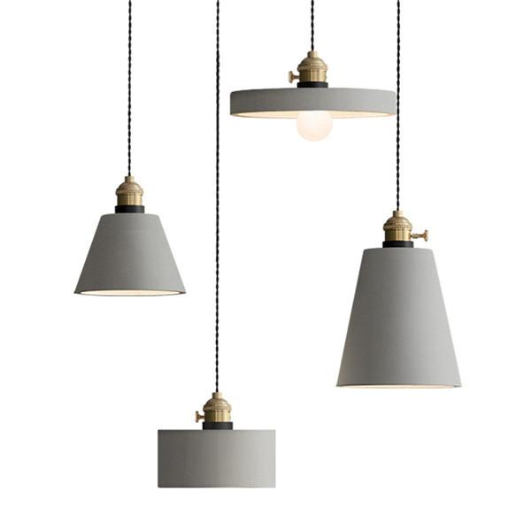 Vintage Metal Cement Pendant Light