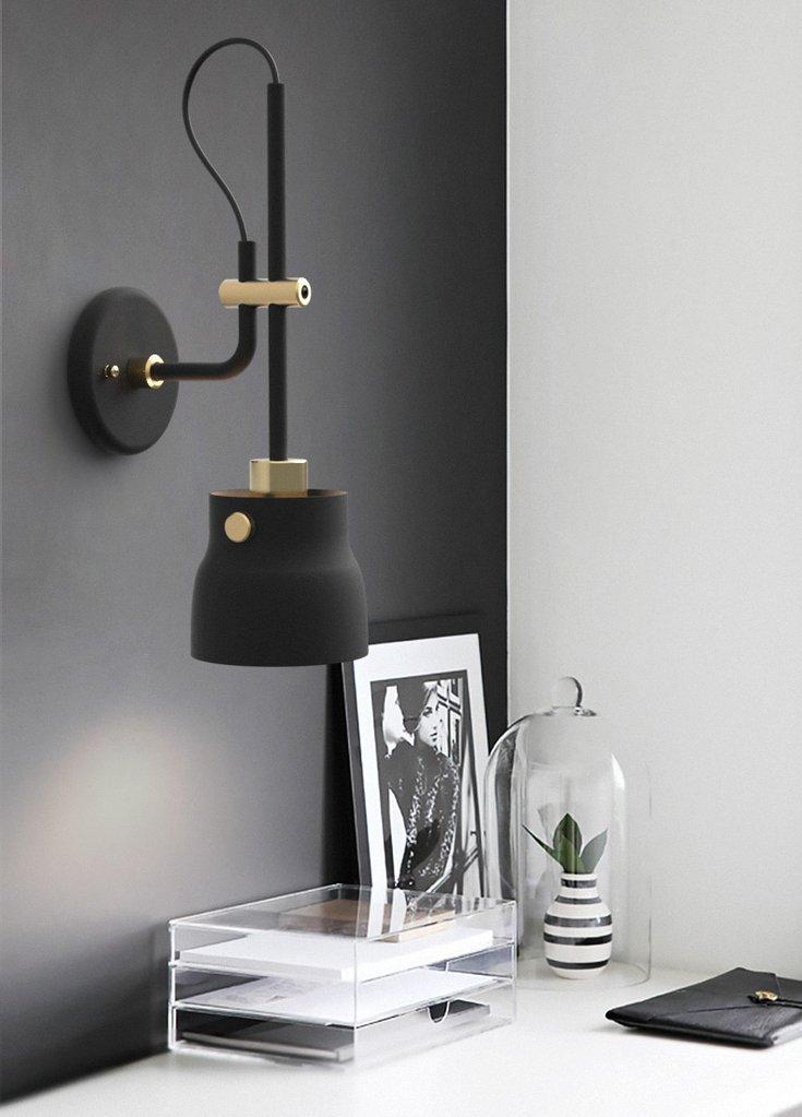 Black Hudson Wall Light