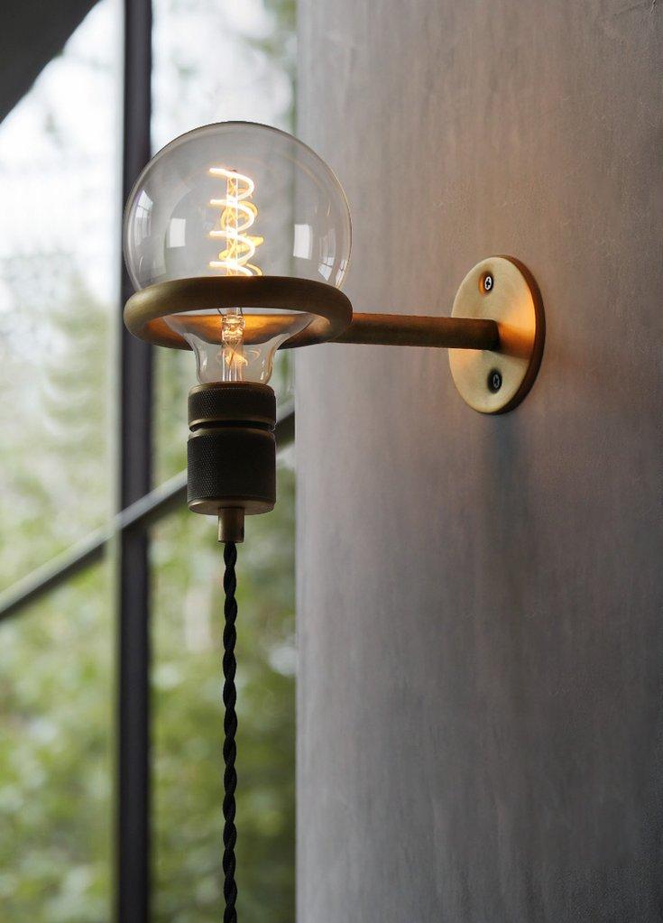 Circus Loop Minimalist Wall Light With Wall Socket