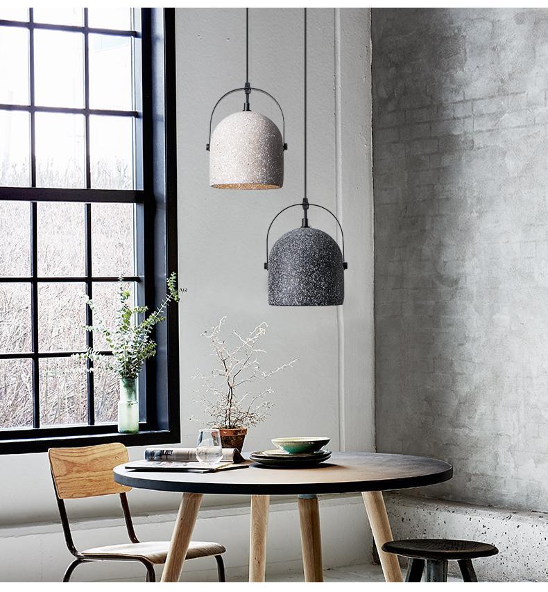 Visby Concrete Pendant Light