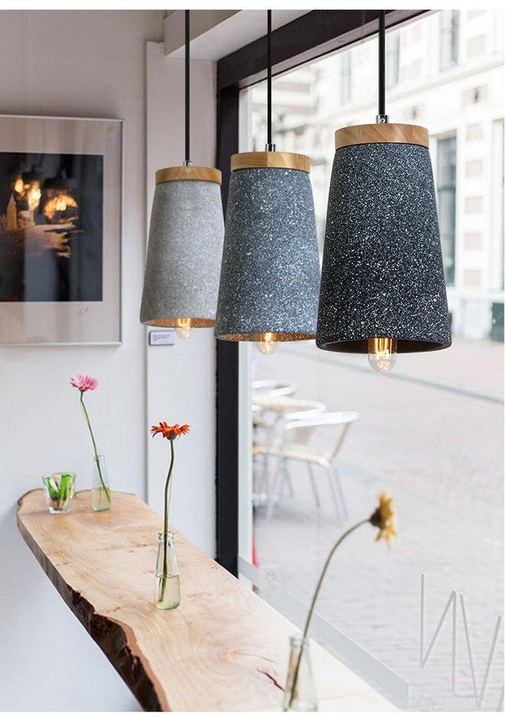 Coburg Wood Concrete Pendant Light