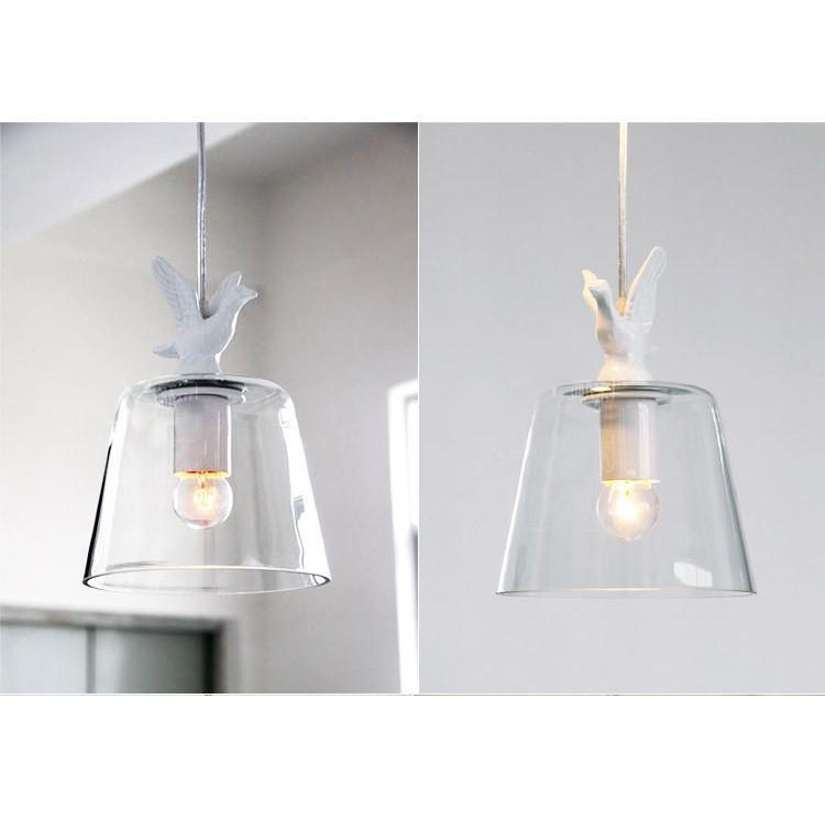 Swan Lake Glass Shade Pendant Light