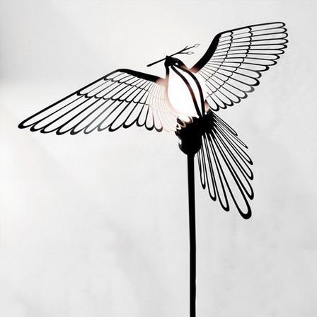 Bird Lightbulb Garland Pendant Light