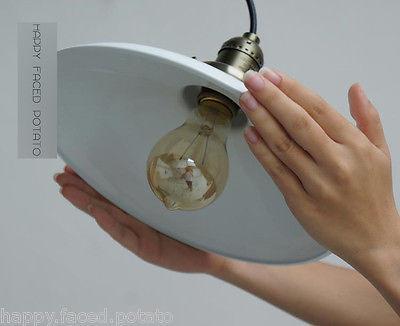 Shallow Plate Industrial Vintage Pendant Light