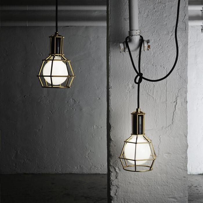 Work Lamp Cage Pendant Light