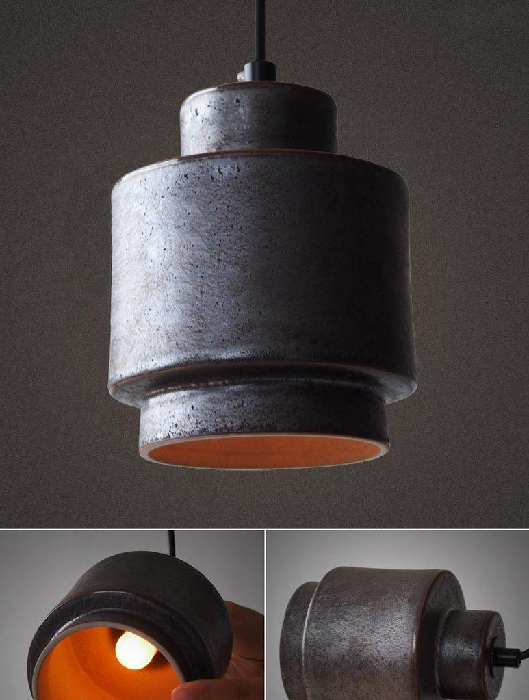 Lustre Black Ceramic Pendant Light