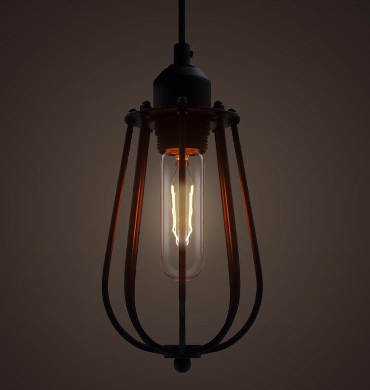Pear Metal Cage Black Pendant Ceiling Light