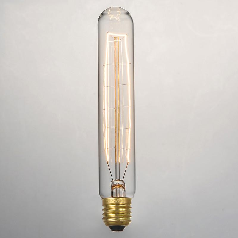 T185 Bulk lot of Short Pencil Edison Filament Light Bulbs (3 or 6 pack)