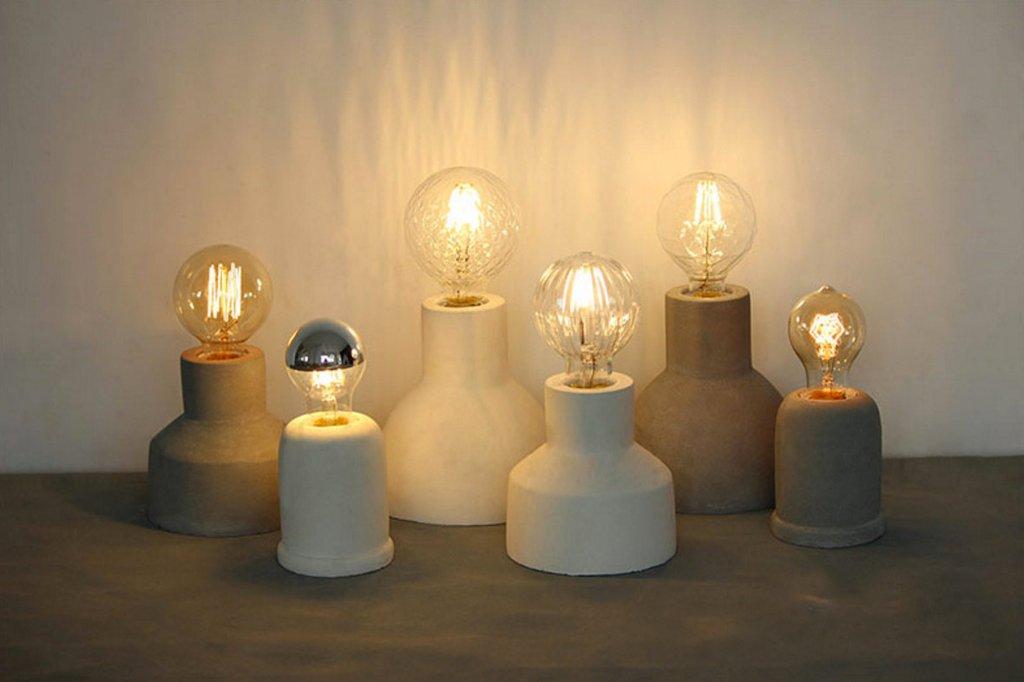 Concrete Cement Minimalist Table Light