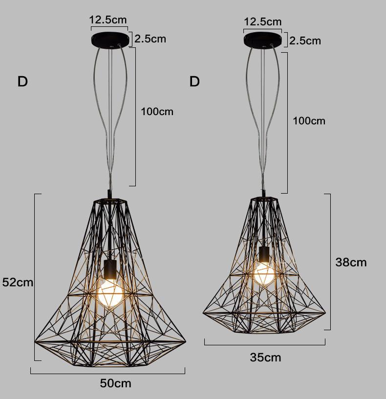 Geometric Cage Minimalist Pendant Light
