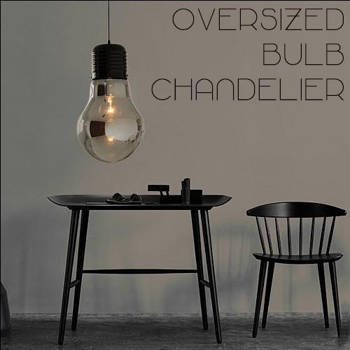 Oversized Bulb Pendant Light