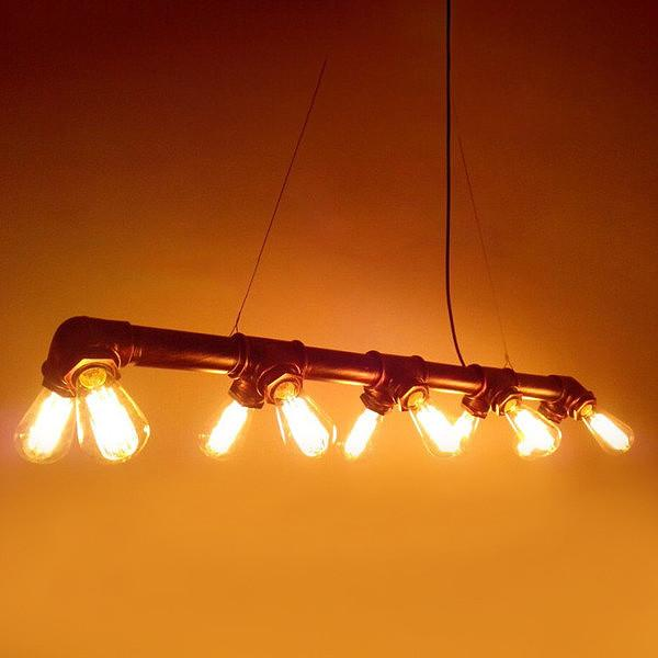 Industrial 10 Bulb Water Pipe Pendant Light