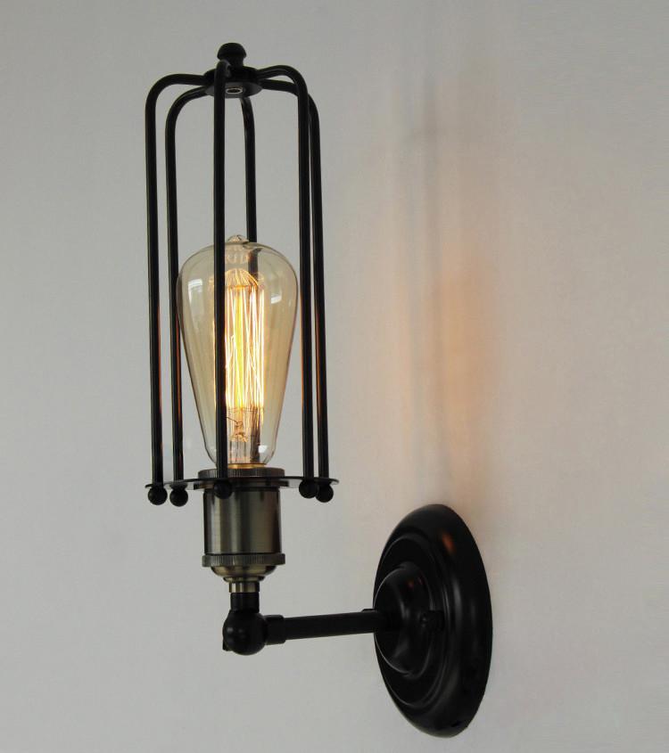 Pencil Cage Industrial Retro Vintage Wall Light