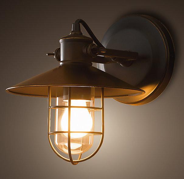 Harbour Sconce Vintage Industrial Wall Light. Warehouse Retro Loft Inspired Design.