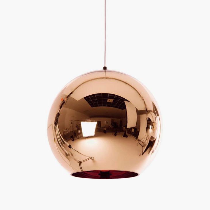 Copper shade ball Pendant Light