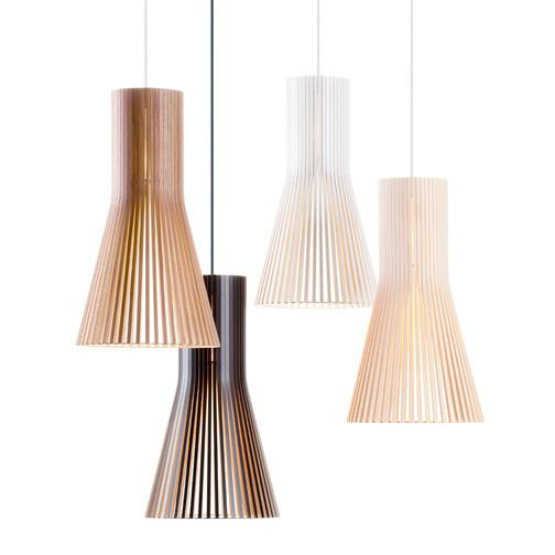 Secto Wooden Pendant Light
