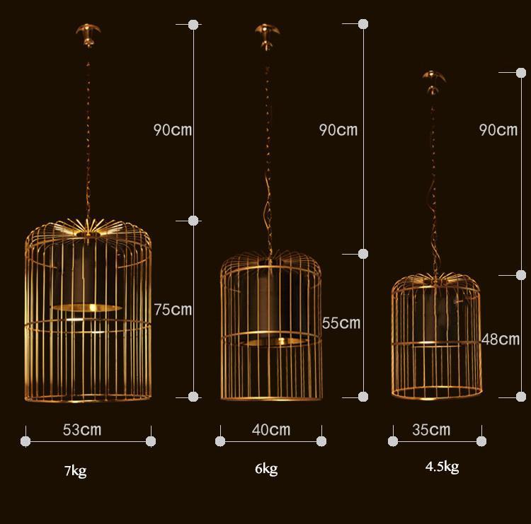 Bird Cage Pendant Light Chandelier