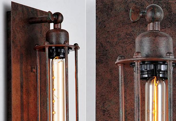 Long Pencil Bulb Industrial Retro Wall Light