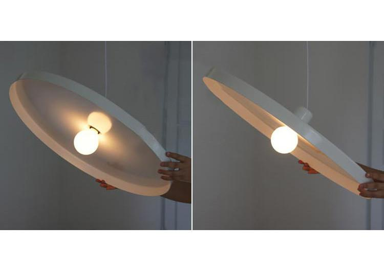 Minimalist disk pendant light