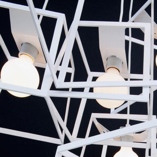 Cube Box Frame Pendant Light / Chandelier